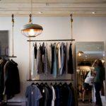 Wieszak sklepowy ubraniowy czarny 40 cm obrotowy